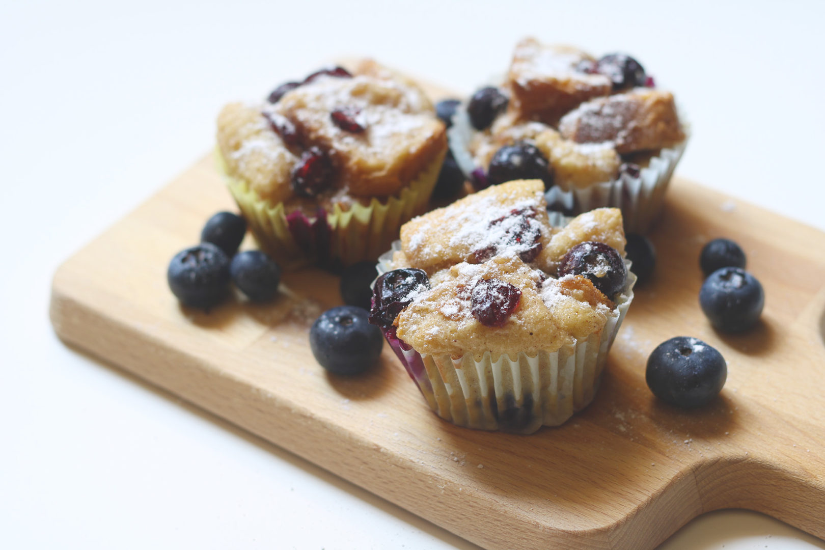 Blueberry Bread Pudding Muffins - Recipe - The Indian Claypot