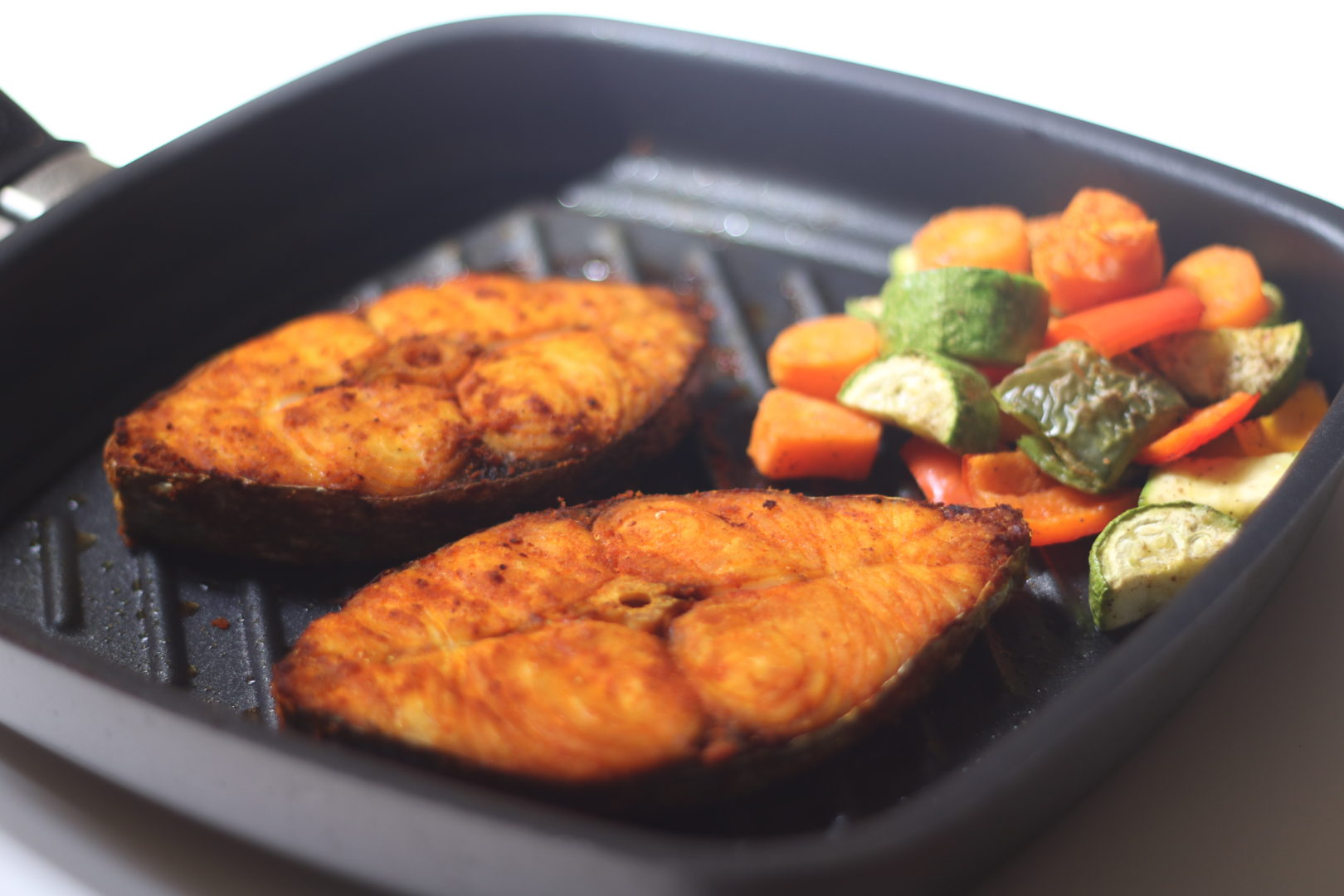 Grilled Kingfish Steak Easy Recipe The Indian Claypot